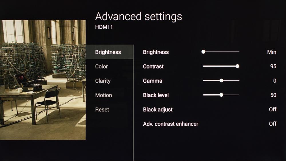 Sony X900C Calibration Settings 2