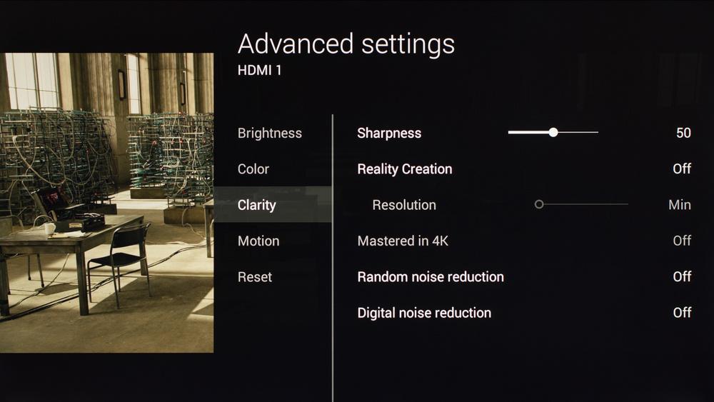 Sony X900C Calibration Settings 3