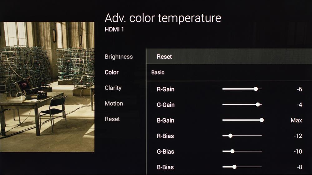 Sony X900C Calibration Settings 6