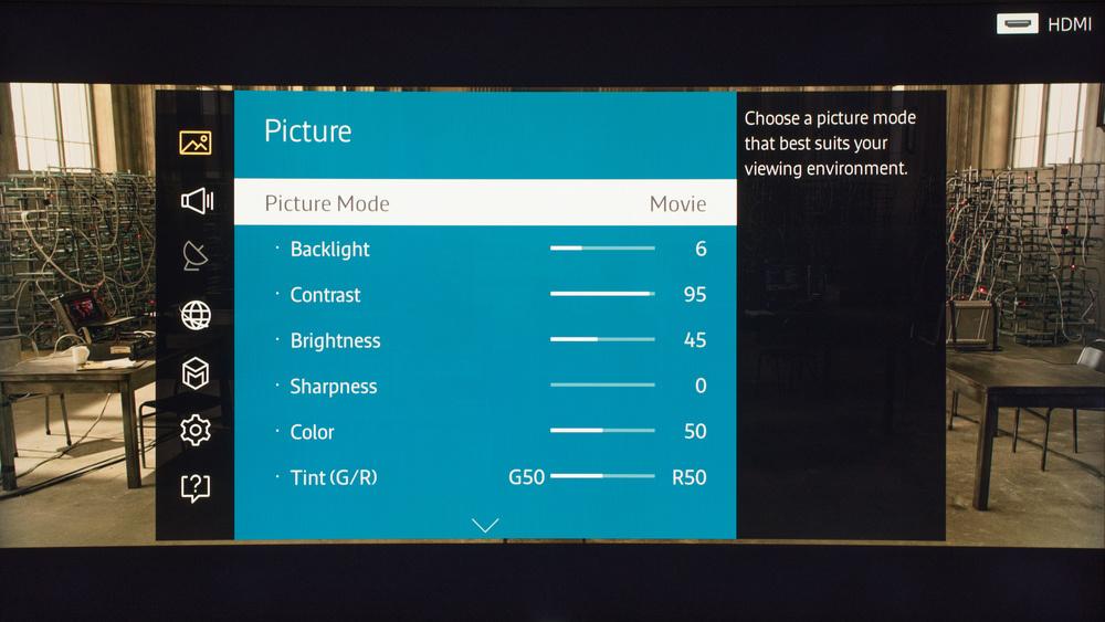 Samsung JS9500 Calibration Settings 1