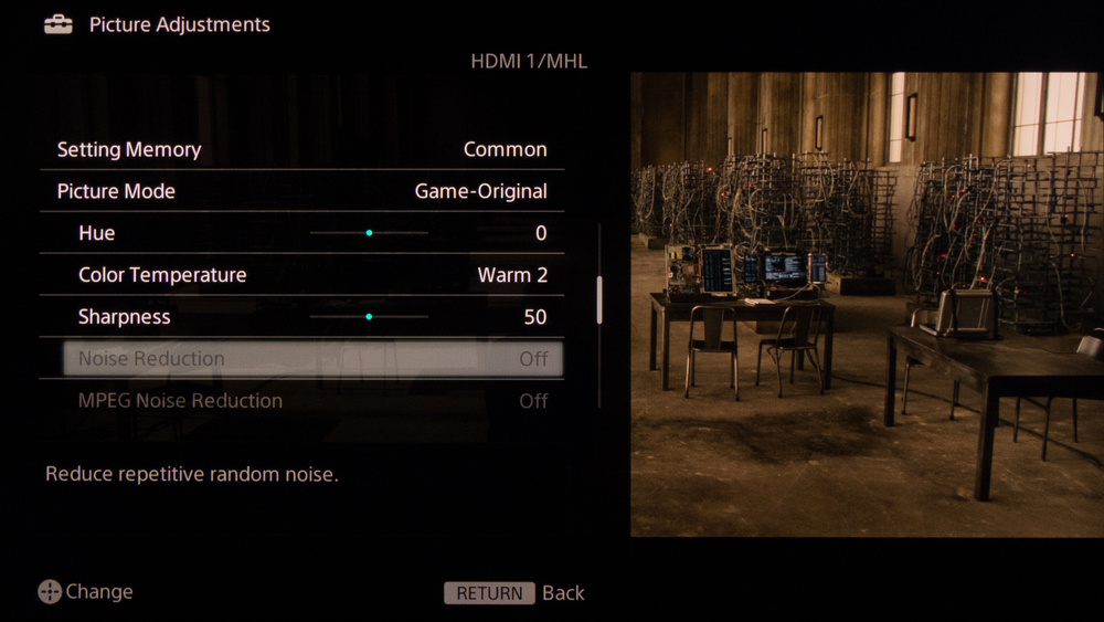 Sony W950B Calibration Settings 3