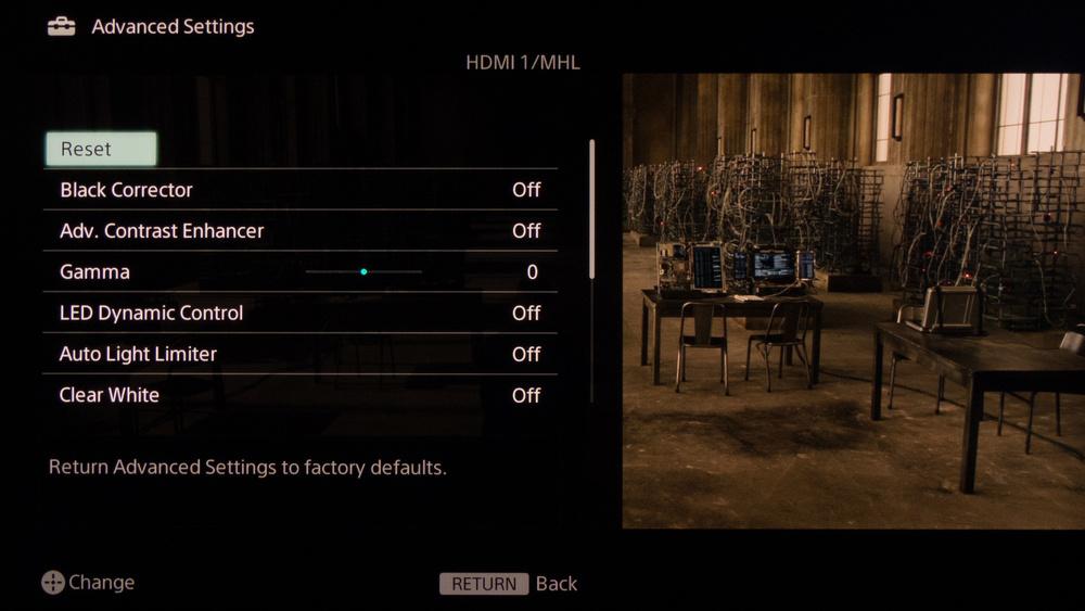 Sony W950B Calibration Settings 5