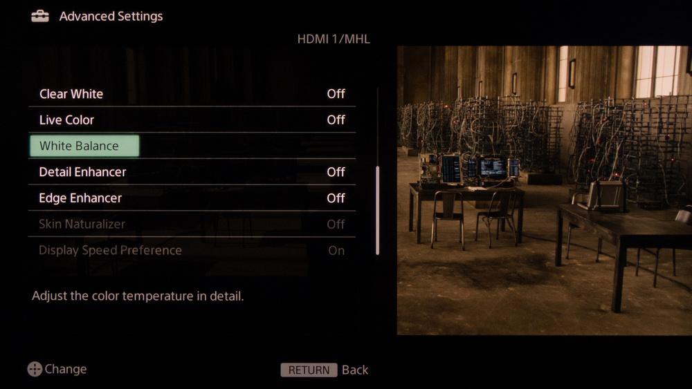 Sony W950B Calibration Settings 6