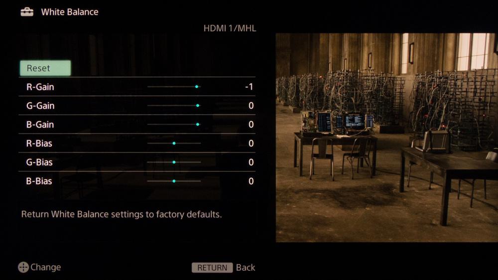 Sony W950B Calibration Settings 7