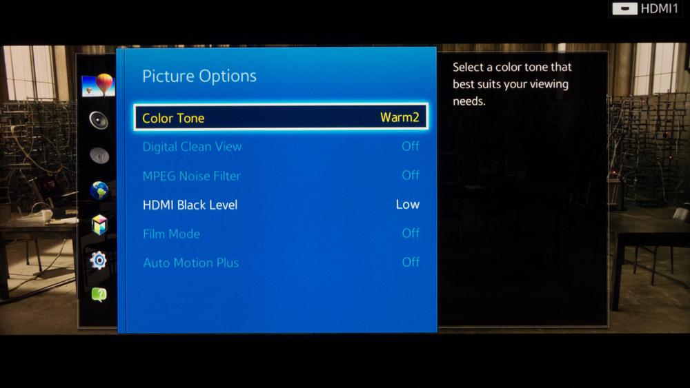 Samsung H6203 Calibration Settings 3