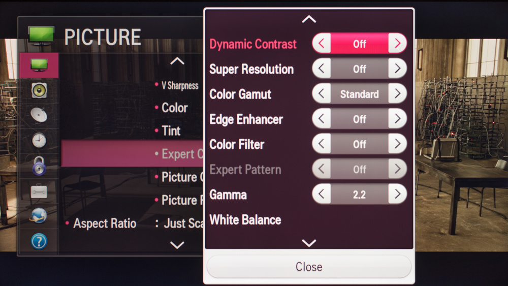 LG LF5800 Calibration Settings 3