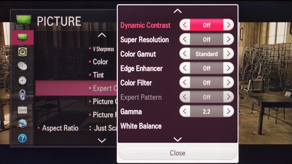 LG LF5800 Calibration Settings 3