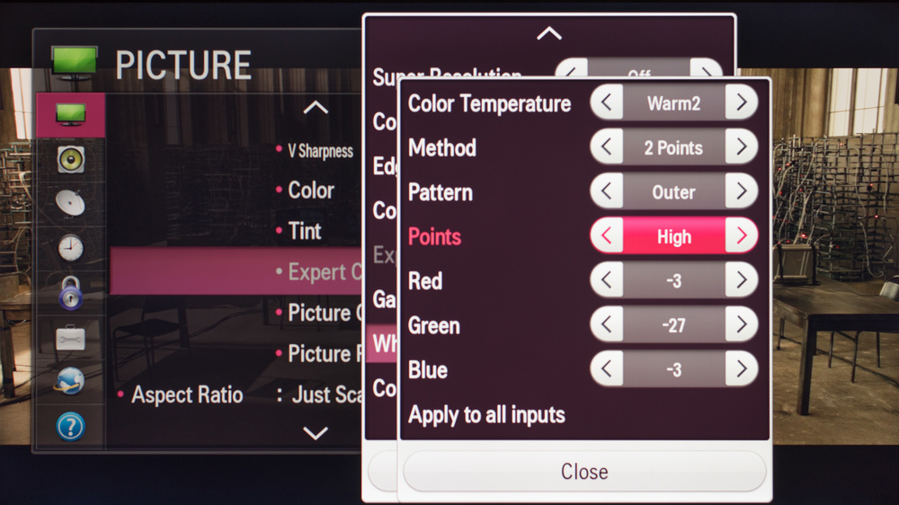 LG LF5800 Calibration Settings 4