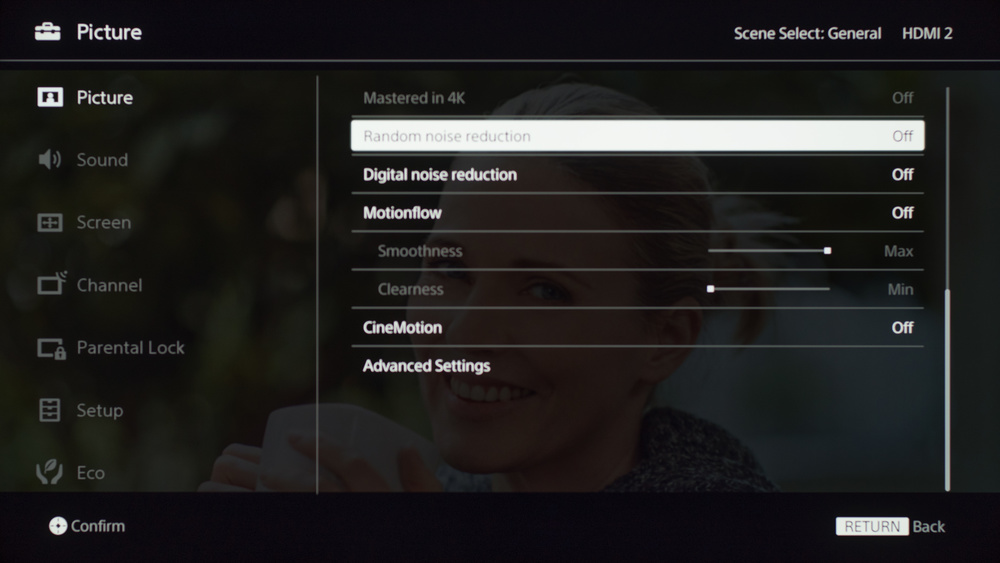 Sony X690E Calibration Settings 9