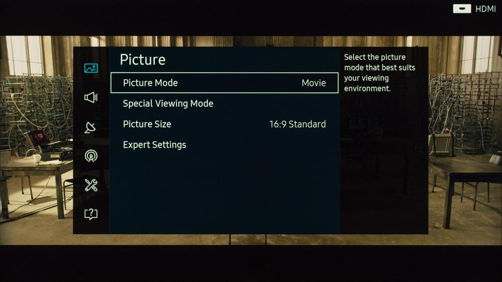 Samsung KS9000 Calibration Settings 1