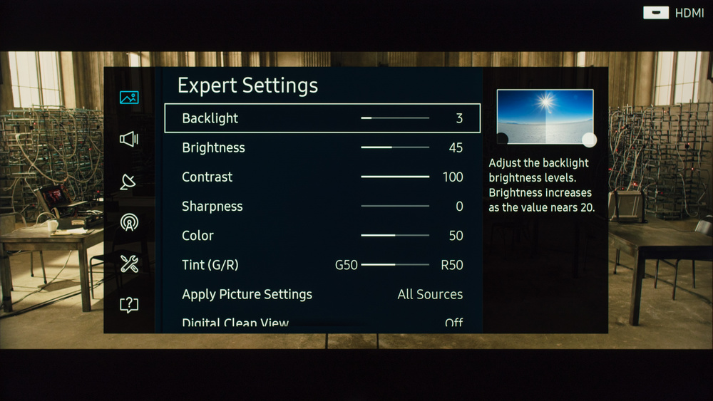Samsung KS9000 Calibration Settings 2