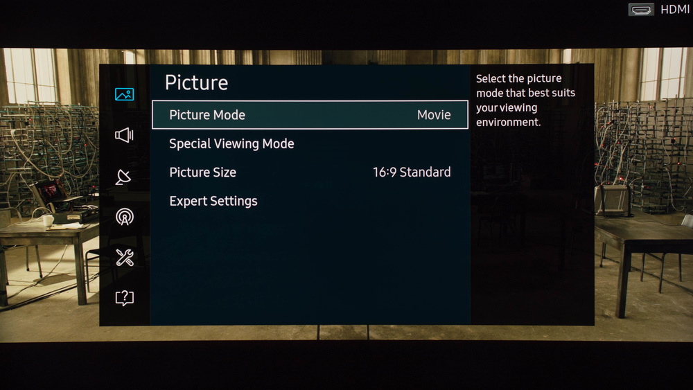 Samsung KS8500 Calibration Settings 1