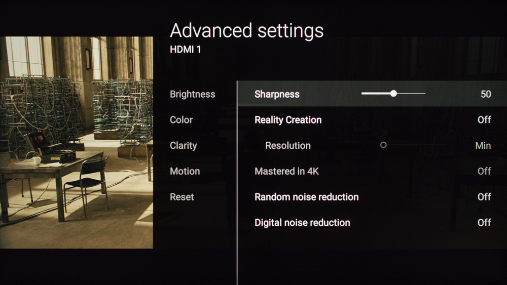 Sony X930D Calibration Settings 15