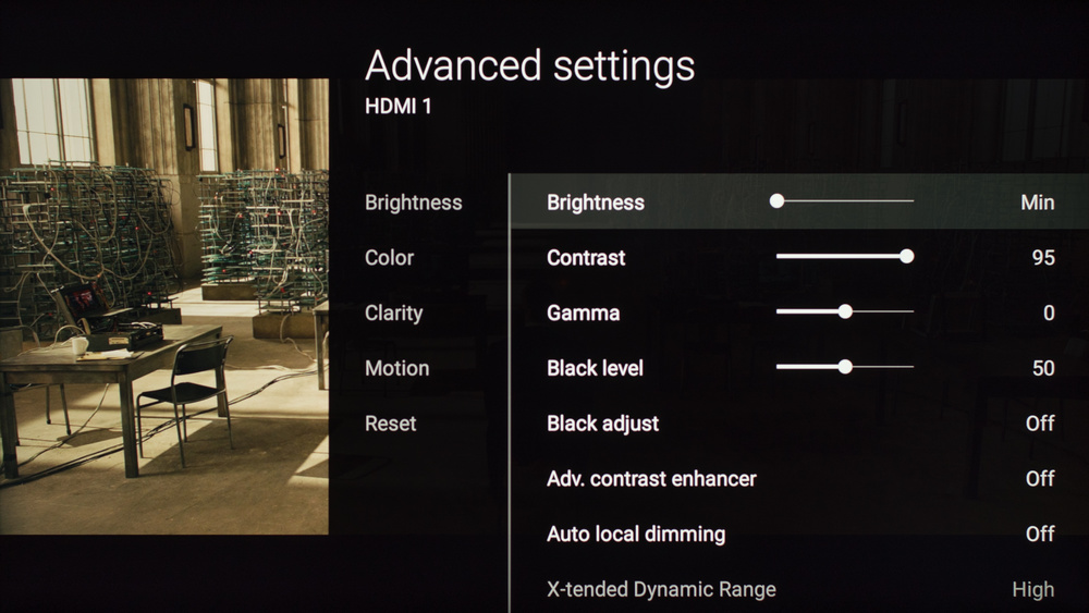 Sony X930D Calibration Settings 2