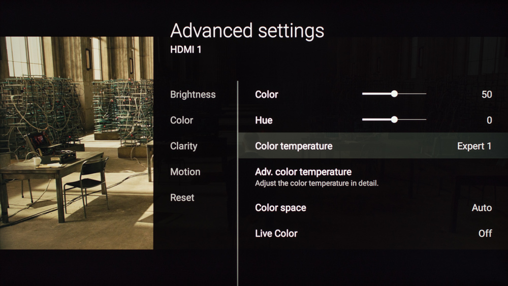 Sony X930D Calibration Settings 3
