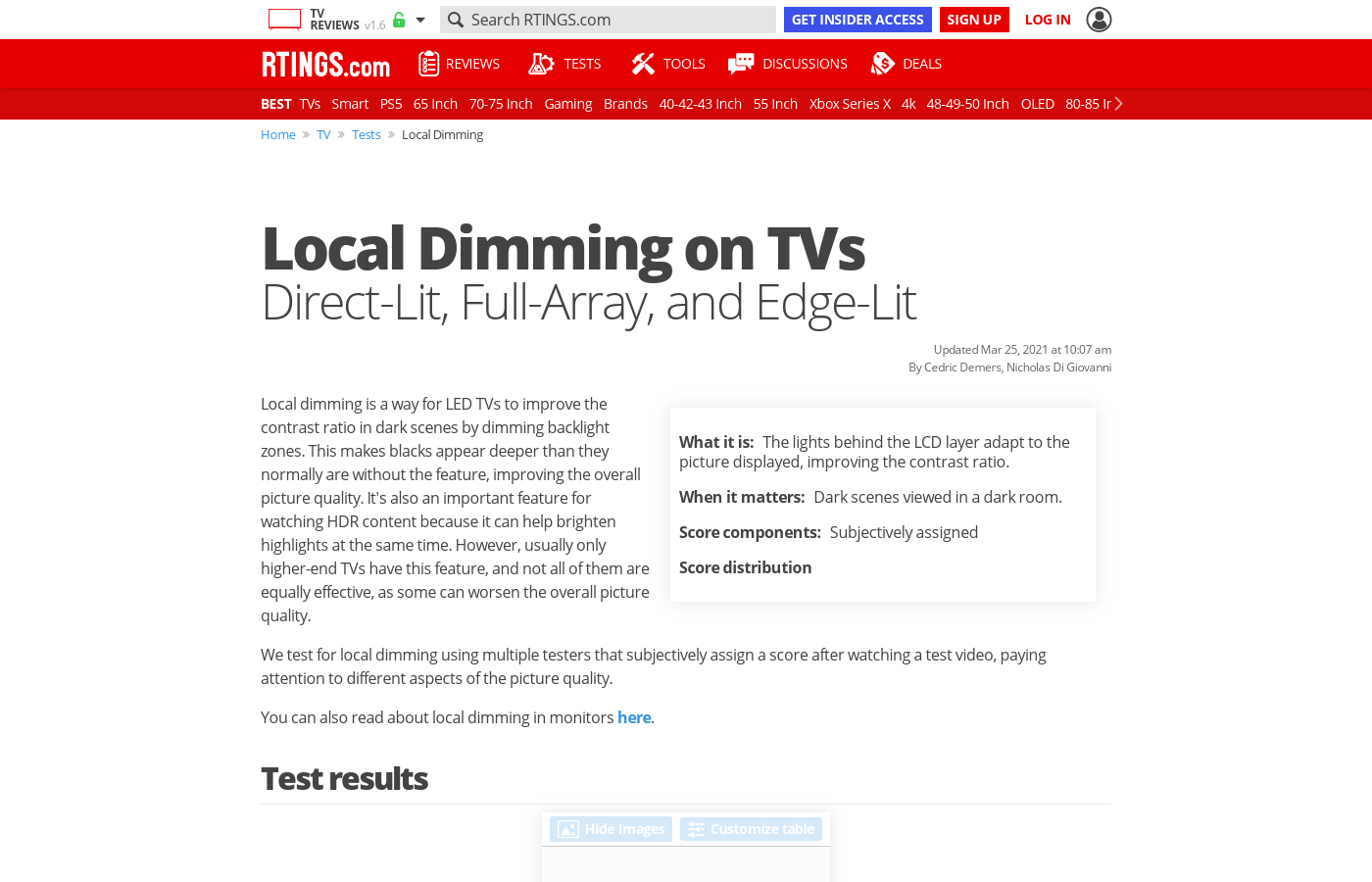 Local Dimming On Tvs Direct Lit Edge Full Array Video If Circuit Tv