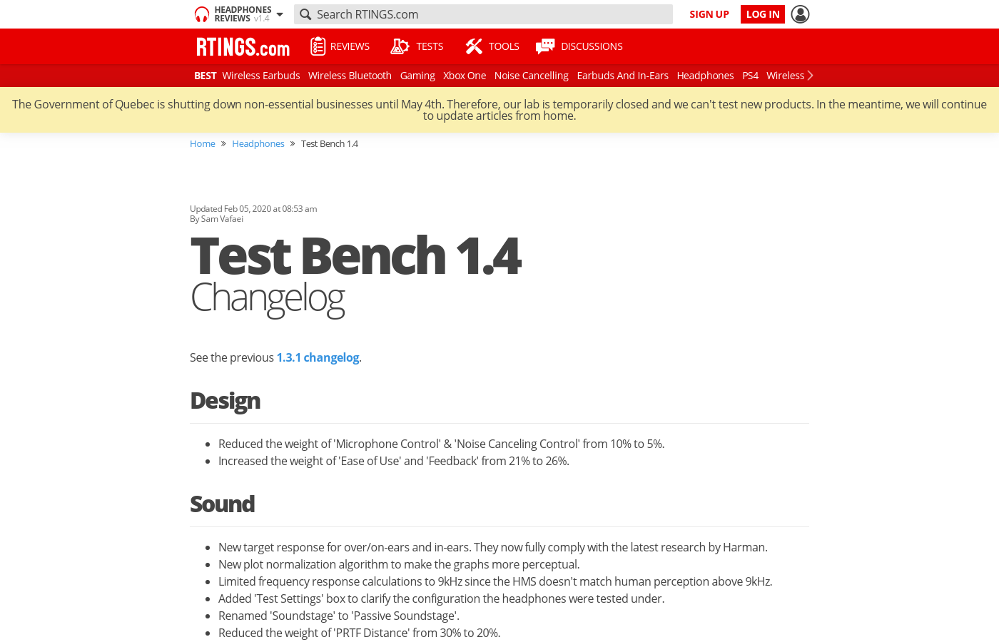 Test Bench 1.4: Changelog