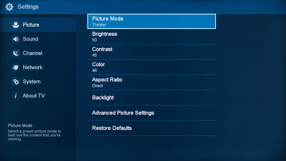 Hisense H8C Calibration Settings 1