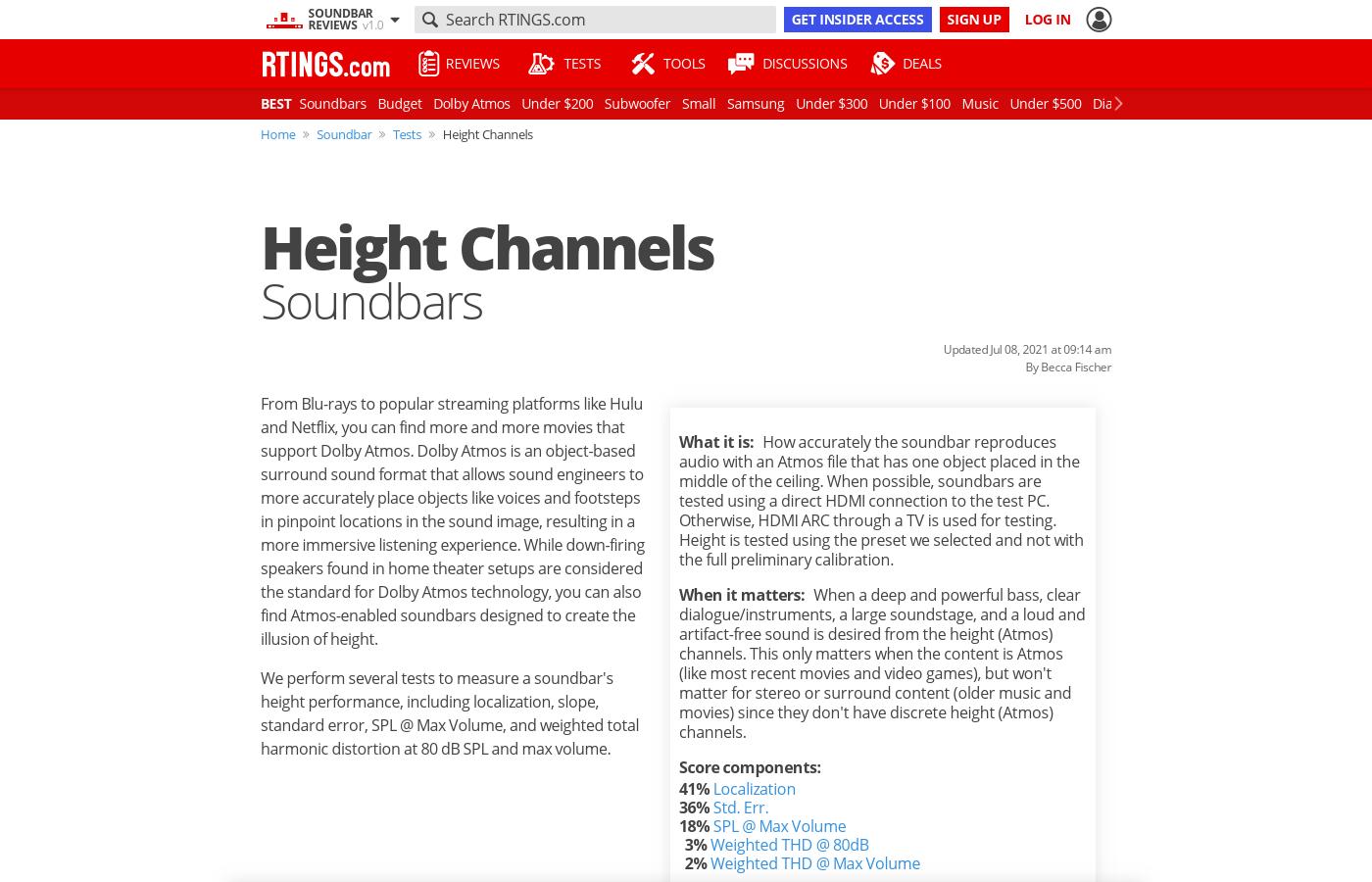 Height Channels: Soundbars