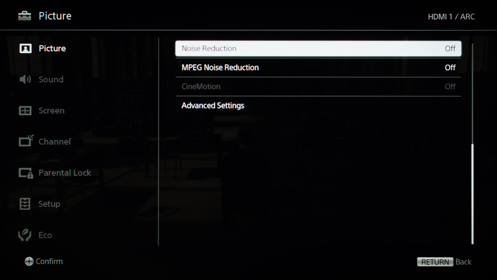 Sony W600D Calibration Settings 5