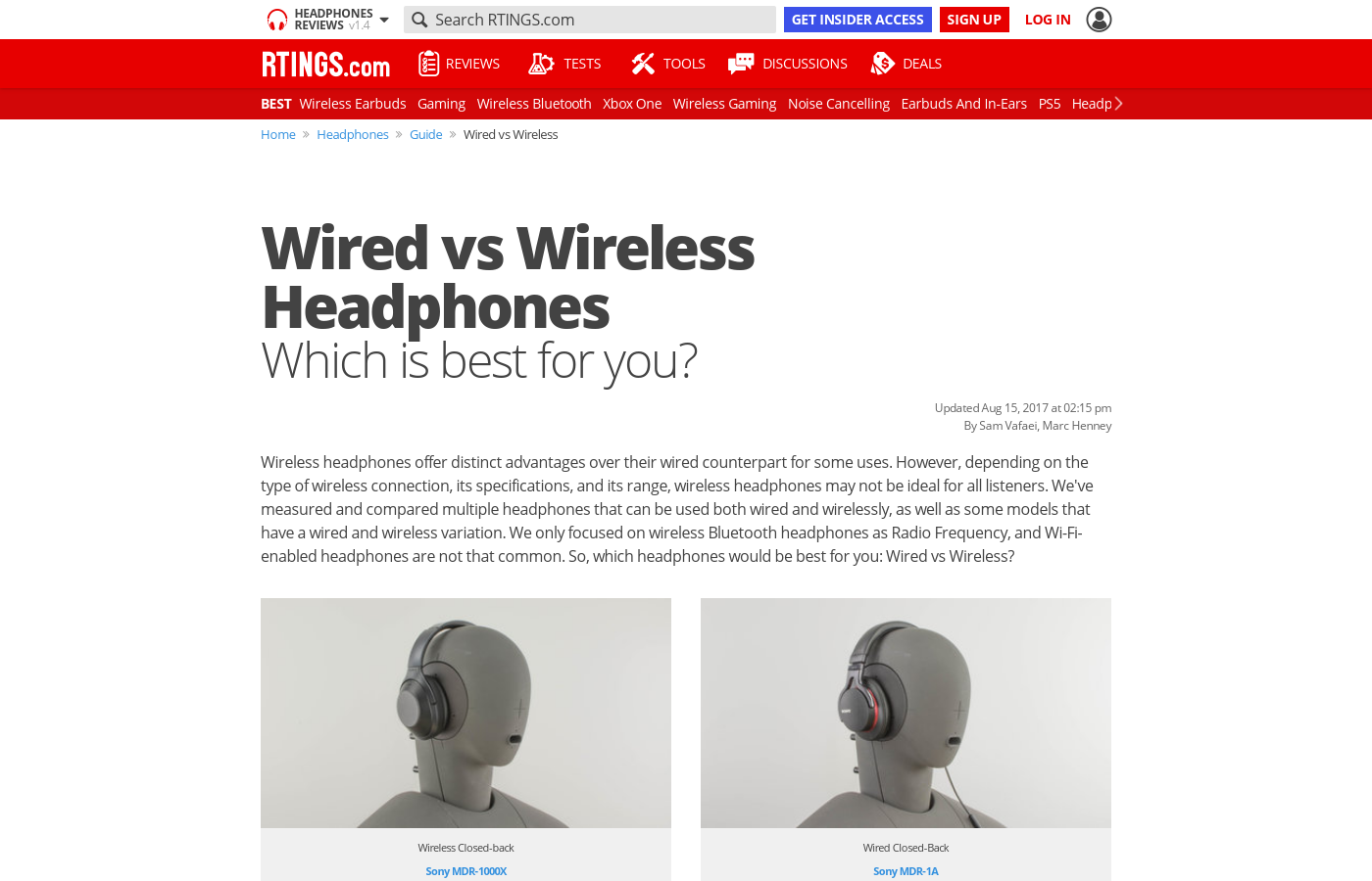 Wired Vs Wireless Headphones Which Is Best For You Rtings Com