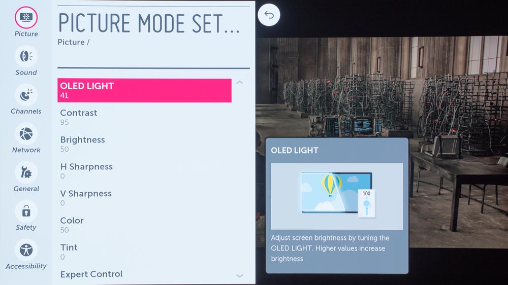 LG EG9600 Calibration Settings 2
