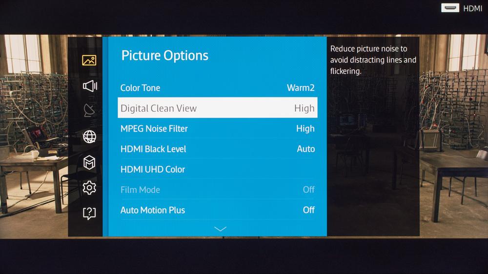 Samsung JU7100 LED TV Calibration Settings