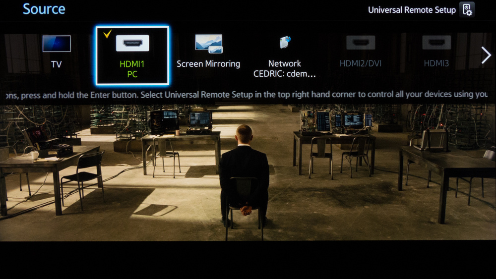 Samsung HU8550 Calibration Settings 1