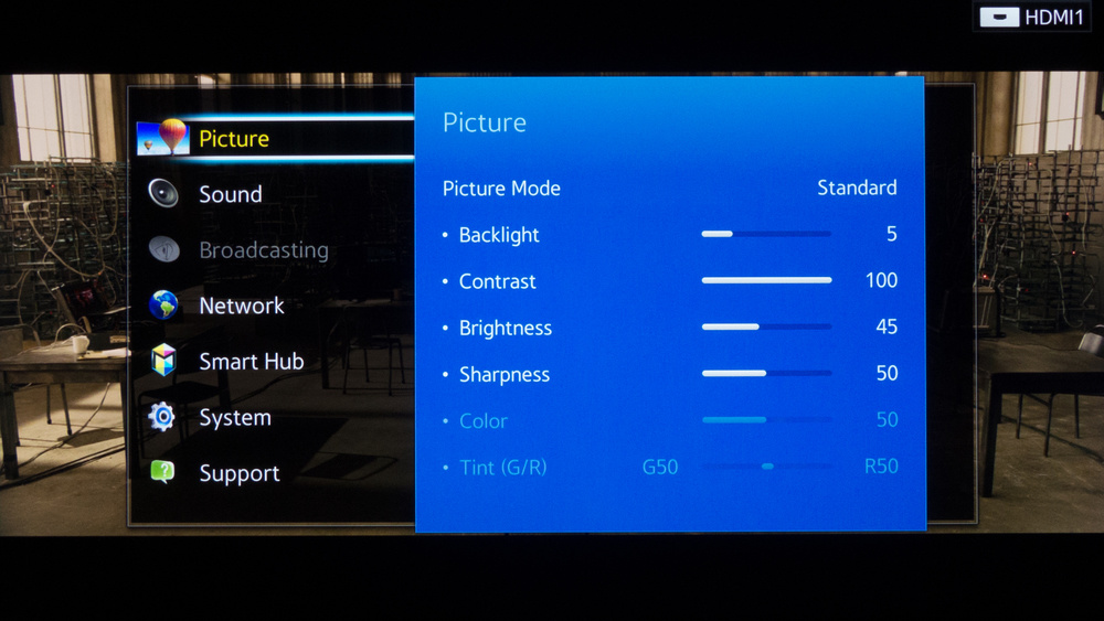 Samsung HU8550 Calibration Settings 2