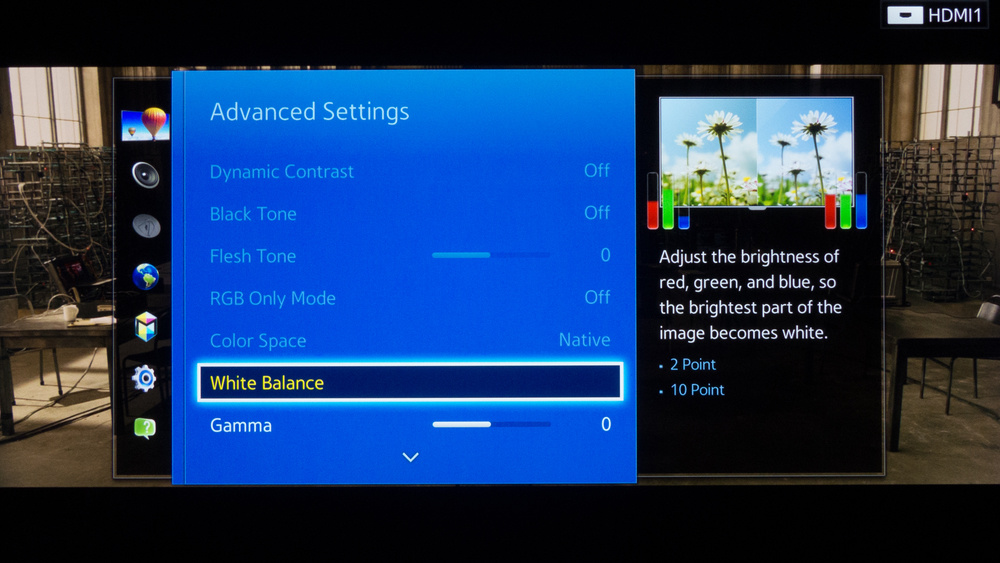 Samsung HU8550 Calibration Settings 3