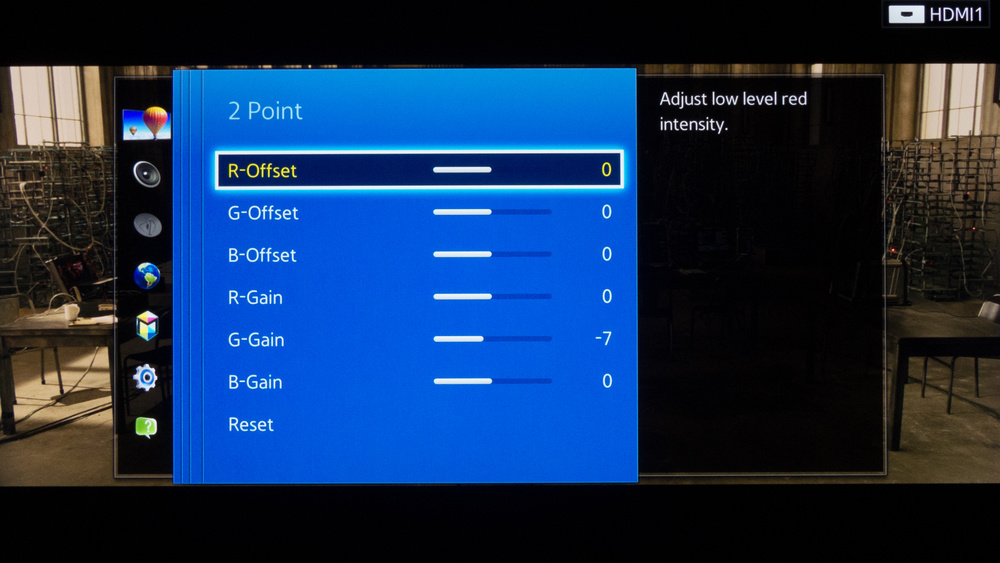 Samsung HU8550 Calibration Settings 4