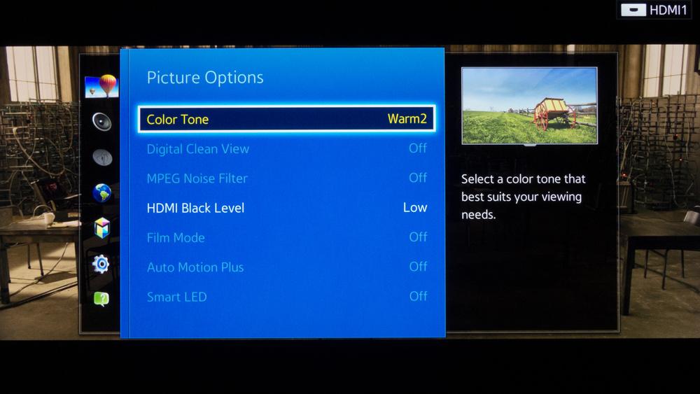 Samsung HU8550 Calibration Settings 5