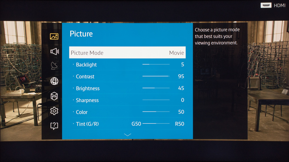 Samsung JU6700 Calibration Settings 1