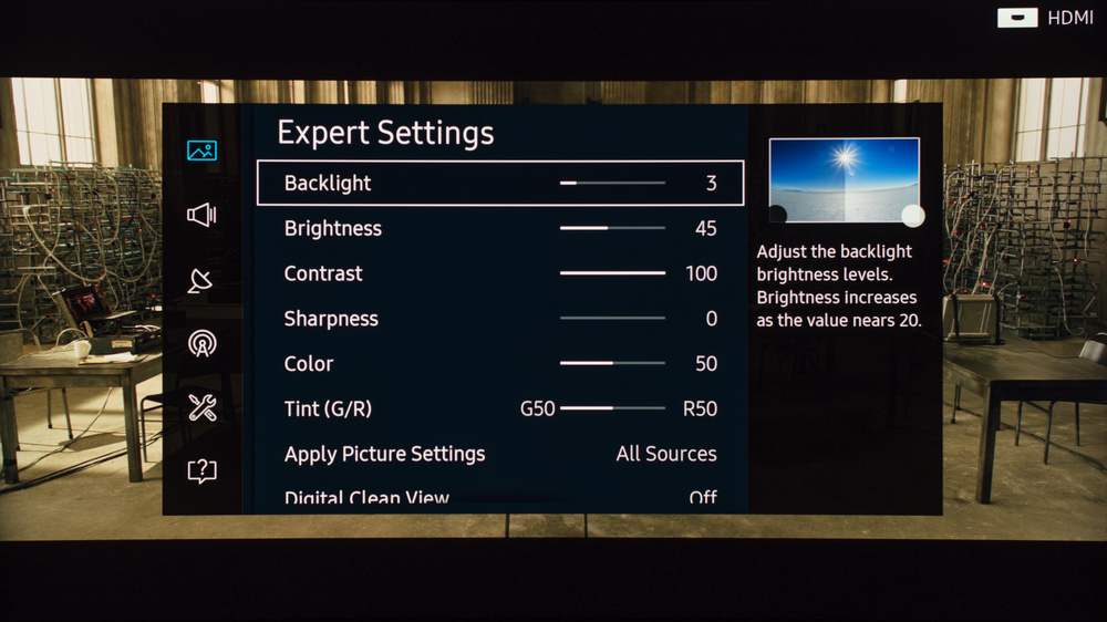 Samsung KS9500 Calibration Settings 2
