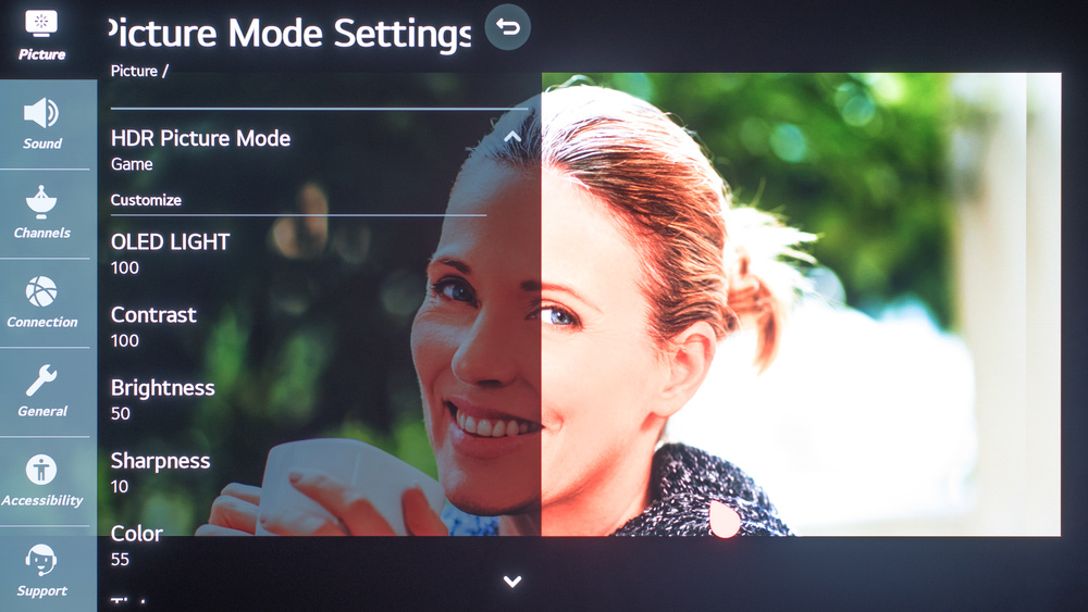 LG CX OLED Calibration Settings 122