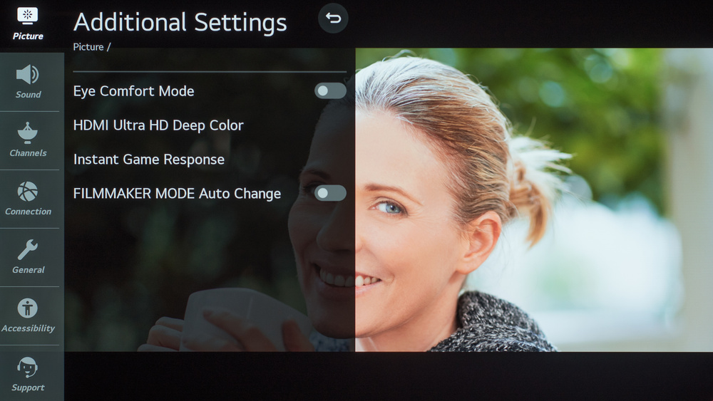 LG CX OLED Calibration Settings 82
