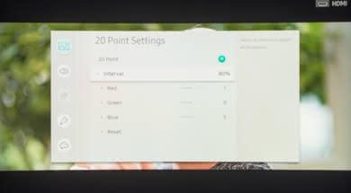 Samsung Q7CN/Q7C QLED 2018 Calibration Settings 30
