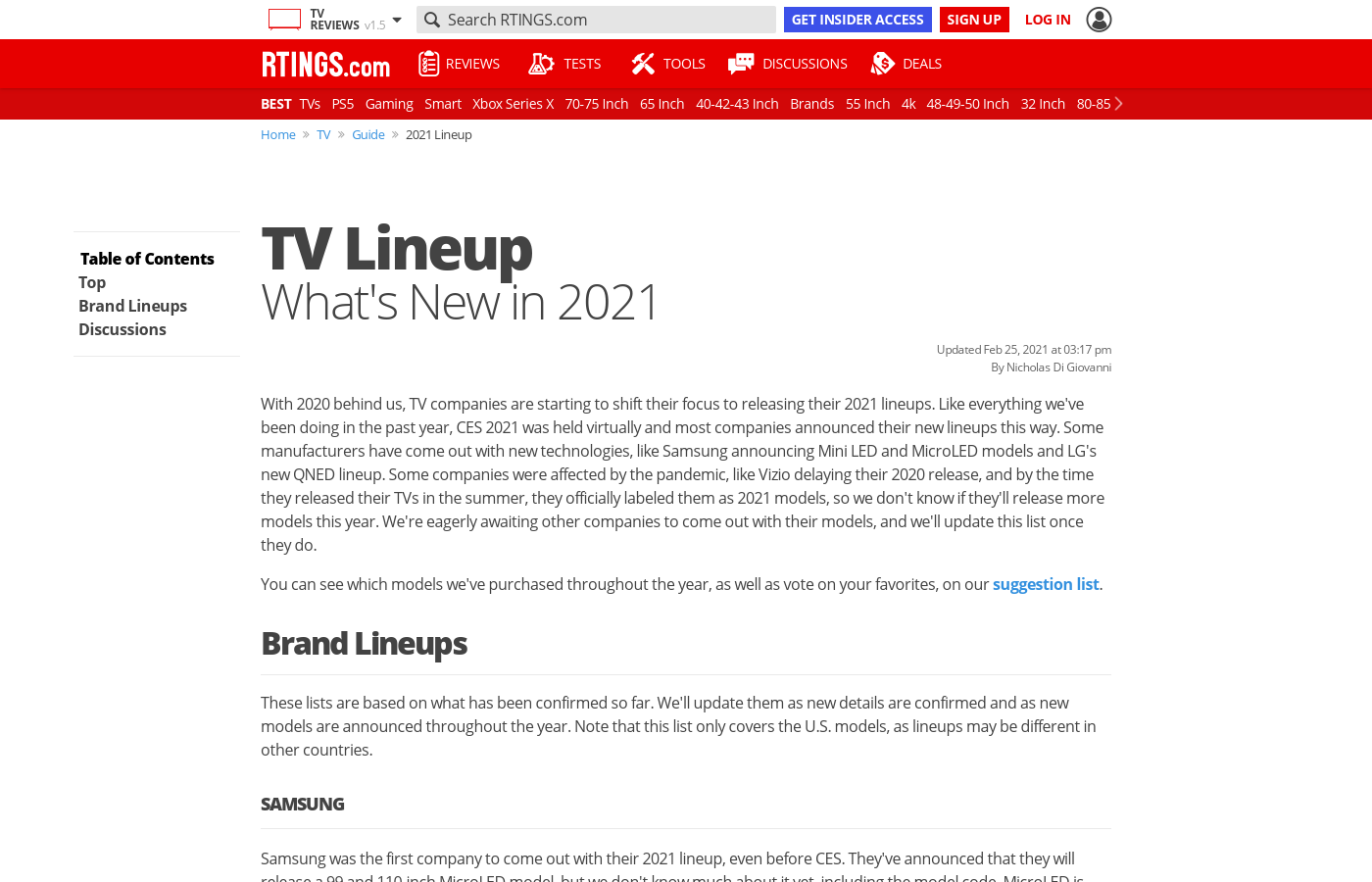 TV Lineup: What's New in 2021