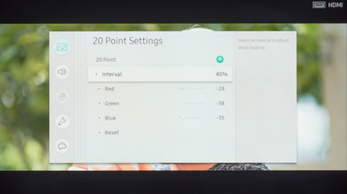 Samsung MU6100 Calibration Settings 18