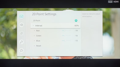 Samsung MU6100 Calibration Settings 23