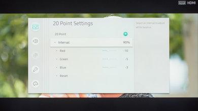 Samsung MU6100 Calibration Settings 28