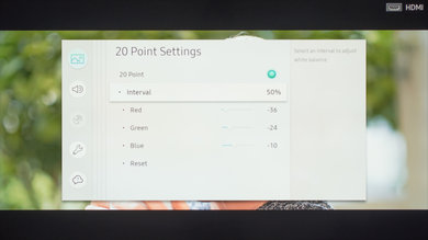 Samsung MU6290 Calibration Settings 20