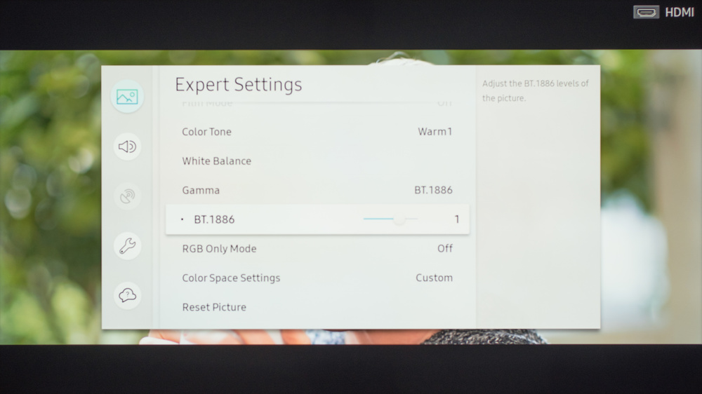 Samsung MU6290 Calibration Settings 9