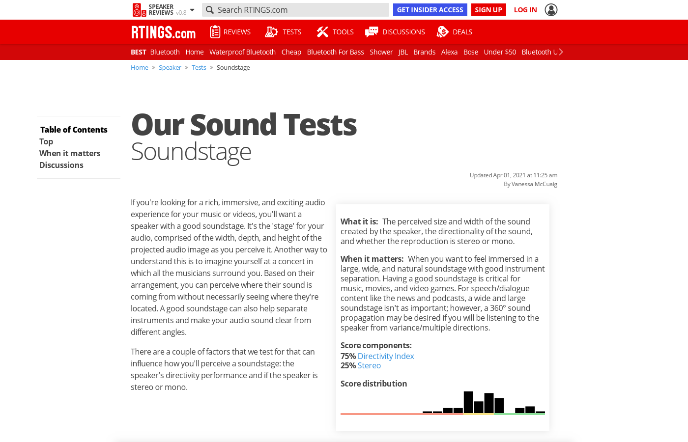 Our Sound Tests: Soundstage