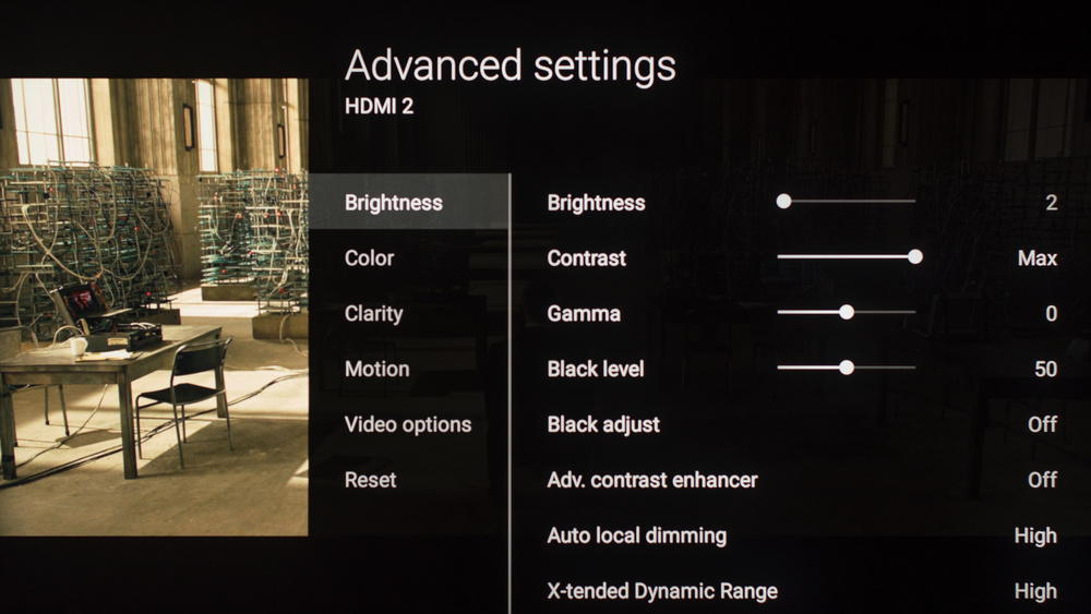 Sony Z9D Calibration Settings 6