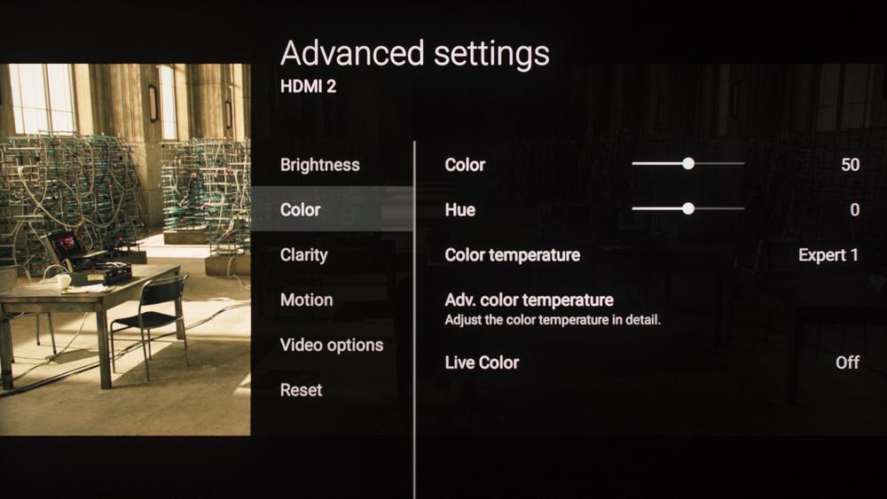Sony Z9D Calibration Settings 7