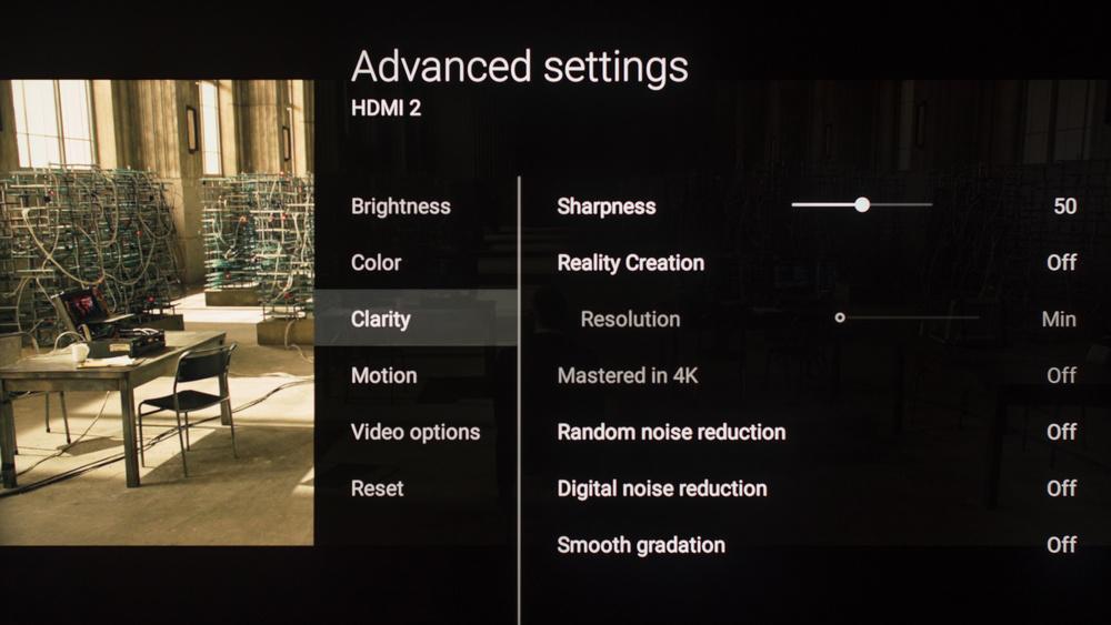 Sony Z9D Calibration Settings 8