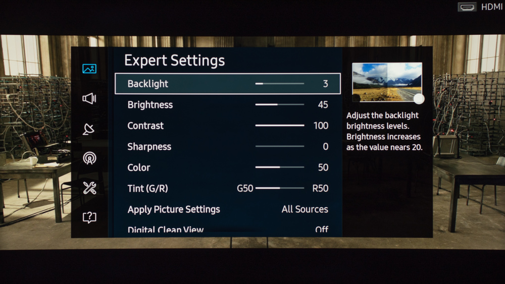 Samsung KU6600 Calibration Settings 2