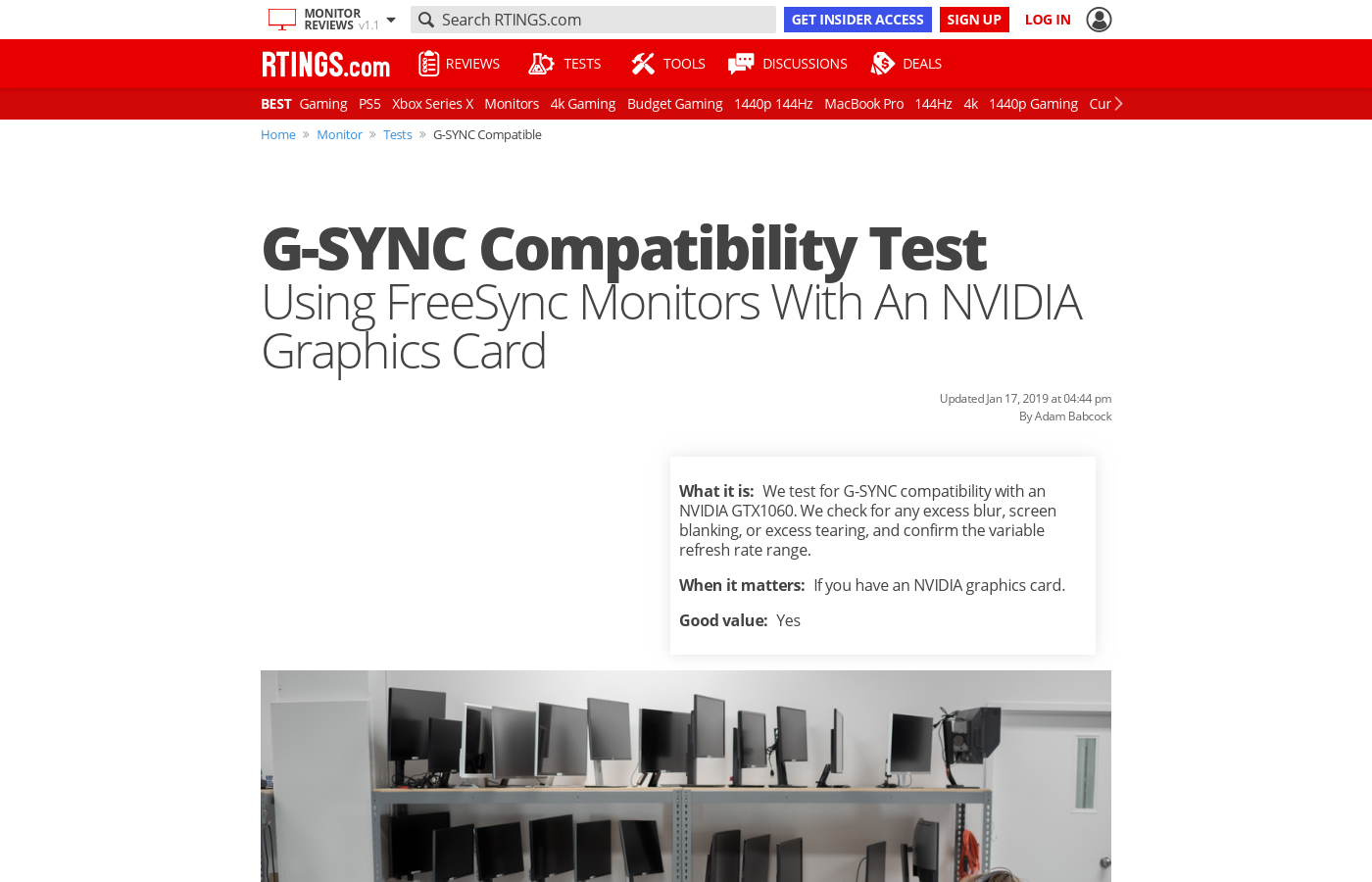 G-SYNC Compatibility Test: Using FreeSync Monitors With An NVIDIA