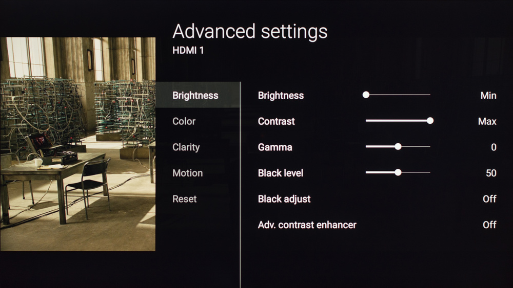 Sony X850D Calibration Settings 2